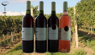 Vína červená a růžové